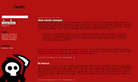 Death Blogspot Template