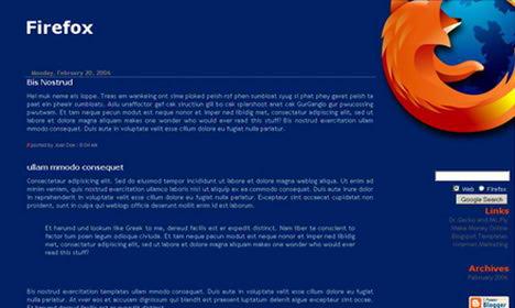Free Blogspot Template Firefox