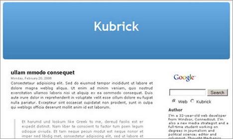 kubrick k2 blogspot template