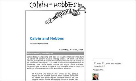 calvin and hobbes blogspot template