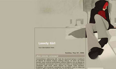 lonely girl blogspot template blogger