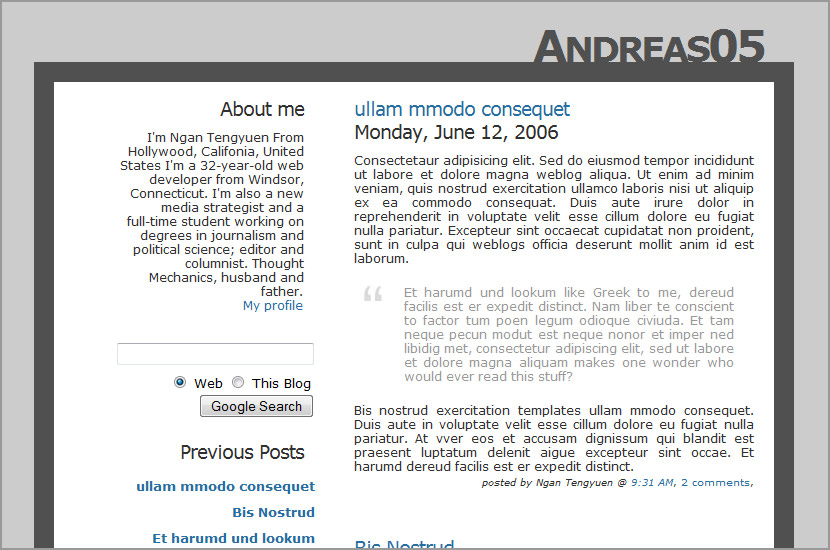 andreas 05 blogspot template design download