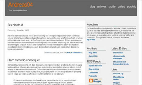 andreas blogger templates