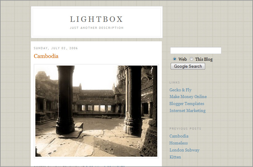 lightbox google blogspot template