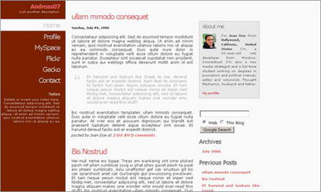 Andreas07 Blogger Template