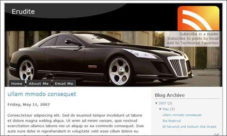 Erudite Blogger Template XML