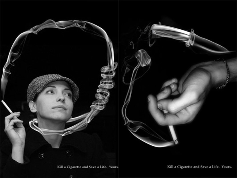 Creative Guerilla Quit Smoking Advertisement