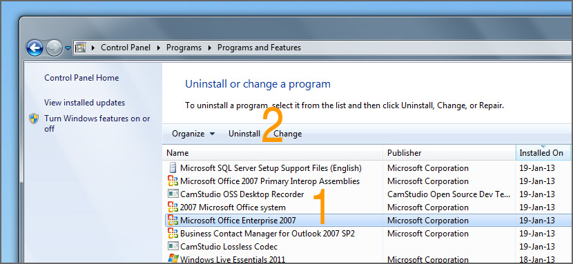 Where is the OCR in Microsoft Office 2007