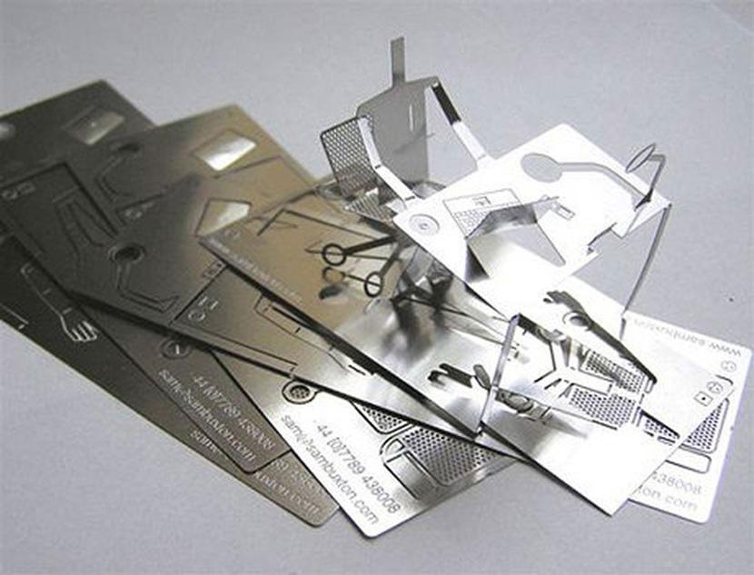 3d metal steel human business card cool office desk