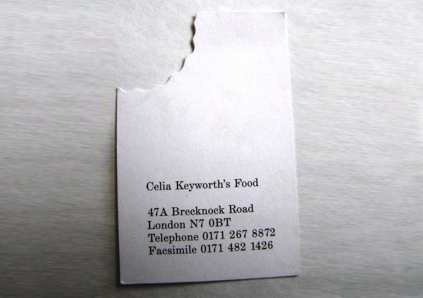 food restaurant dinner chief cook culinary business card cool