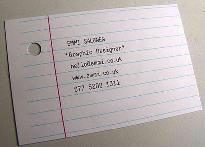 graphic designer creative cool unique business card