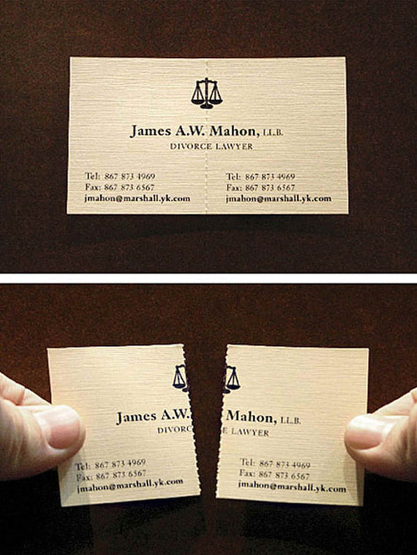 separation lawyer divorce marshall legal business card