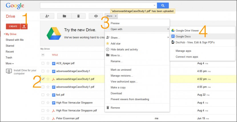How to edit Adobe PDF files and documents that are locked? With Google Drive and Docs, you can now upload, edit and copy texts in Adobe PDF files. Since Google Docs is a cloud tool, no installation of software is required.