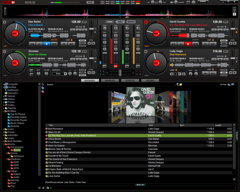 Virtual DJ 6 - The Best BPM DJ Software for MP3 Music Mixing