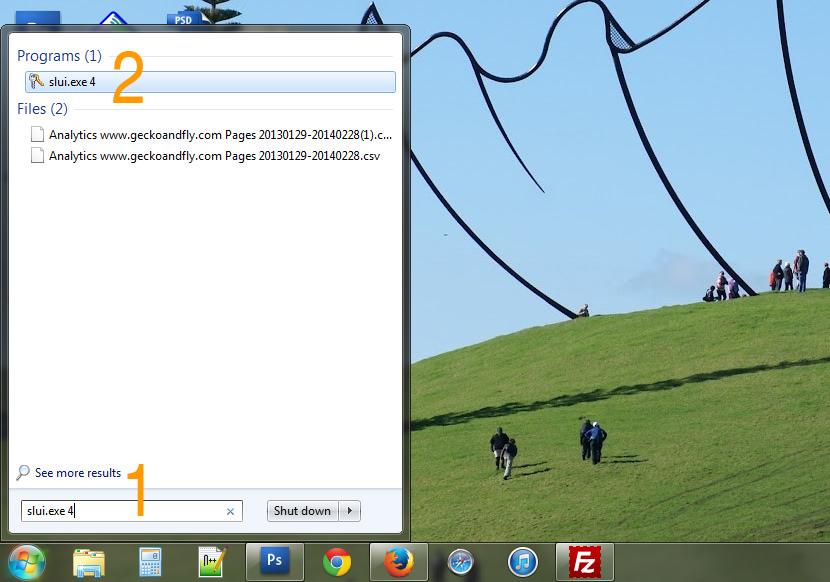 How to Activate Windows 7 via Phone Activation 'slui.exe 4' Client