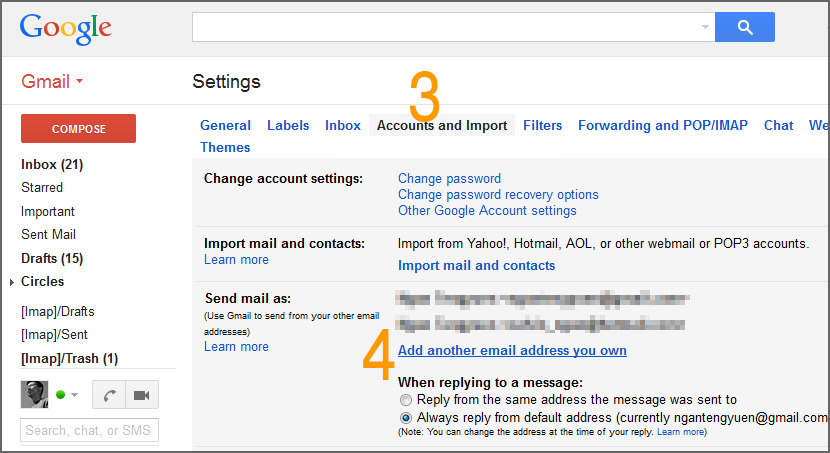 how to set up another email account in gmail