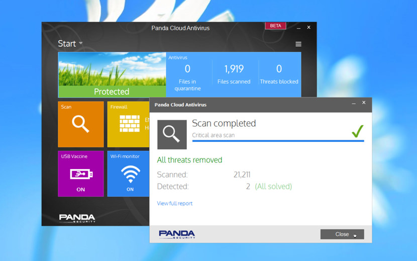 google panda antivirus cloud
