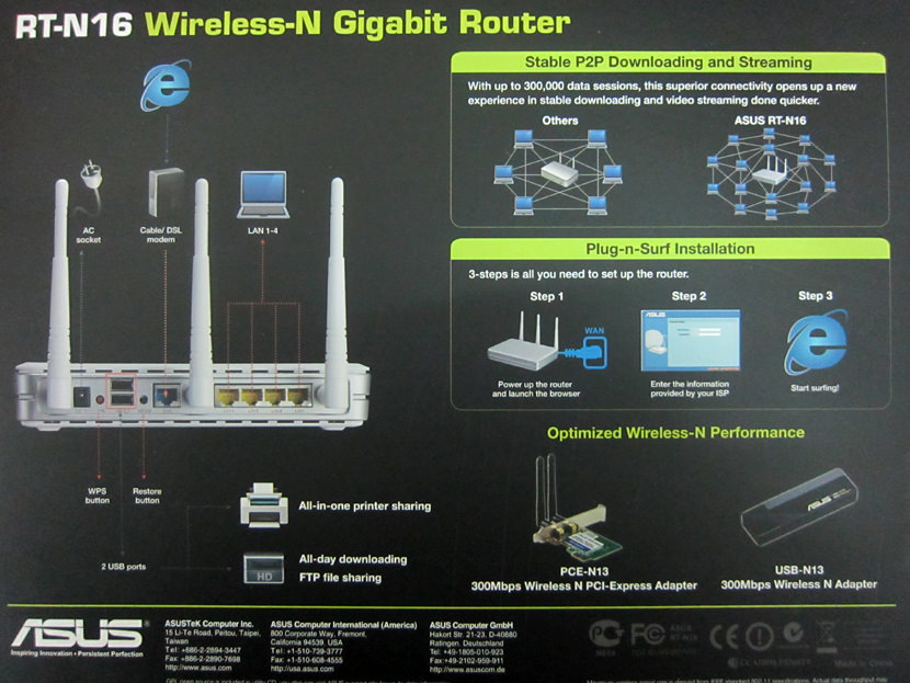 Asus RT-N16 - TM Unifi Ready Router
