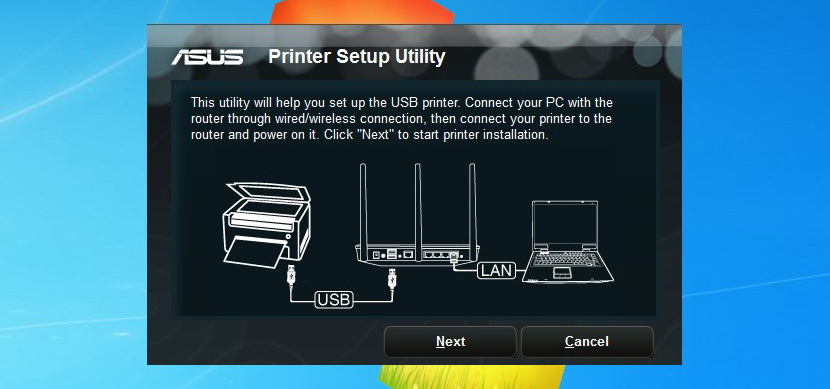 Setup Network Printer for Asus RT-N16