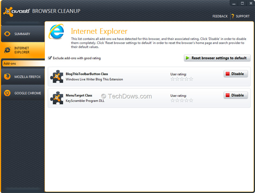 avast browser cleanup tool
