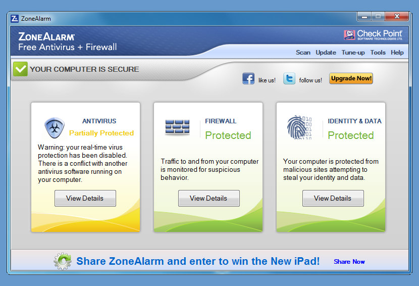 zonealarm free firewall microsoft windows