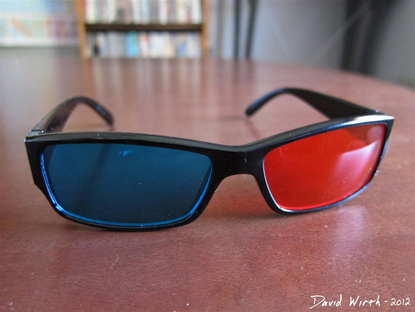 3D Glasses Red Cyan Oakley Ray Ban