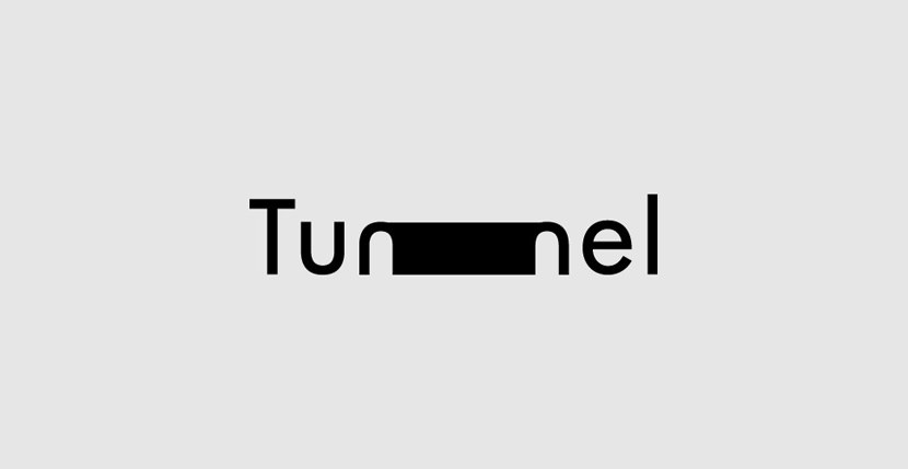 Tunnel Creative Word Art Images As Iconic Logos