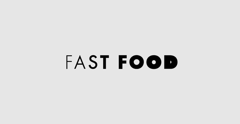 fastfood Creative Word Art Images As Iconic Logos