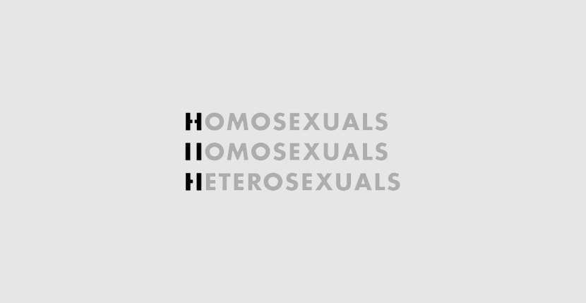 homosexuals Creative Word Art Images As Iconic Logos