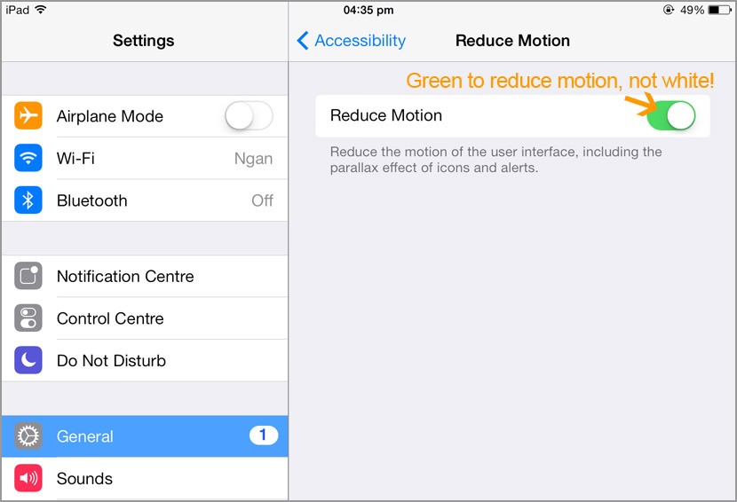 ios7 disable parallax background animation Awesome Tips On Extending iPhone iOS8 Battery Life For 24 Hours