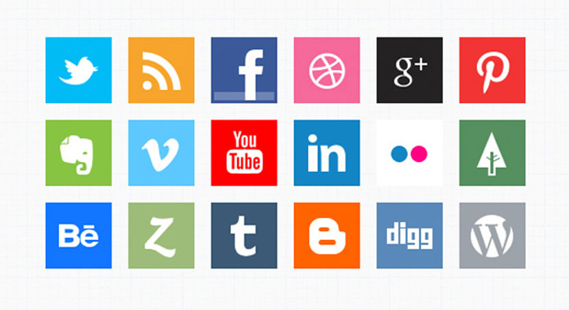 minimal social media icons psd