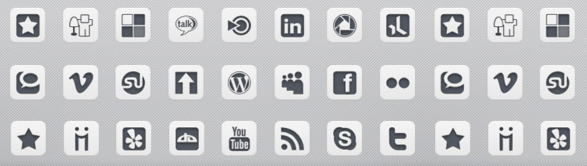 sidebar social media grey