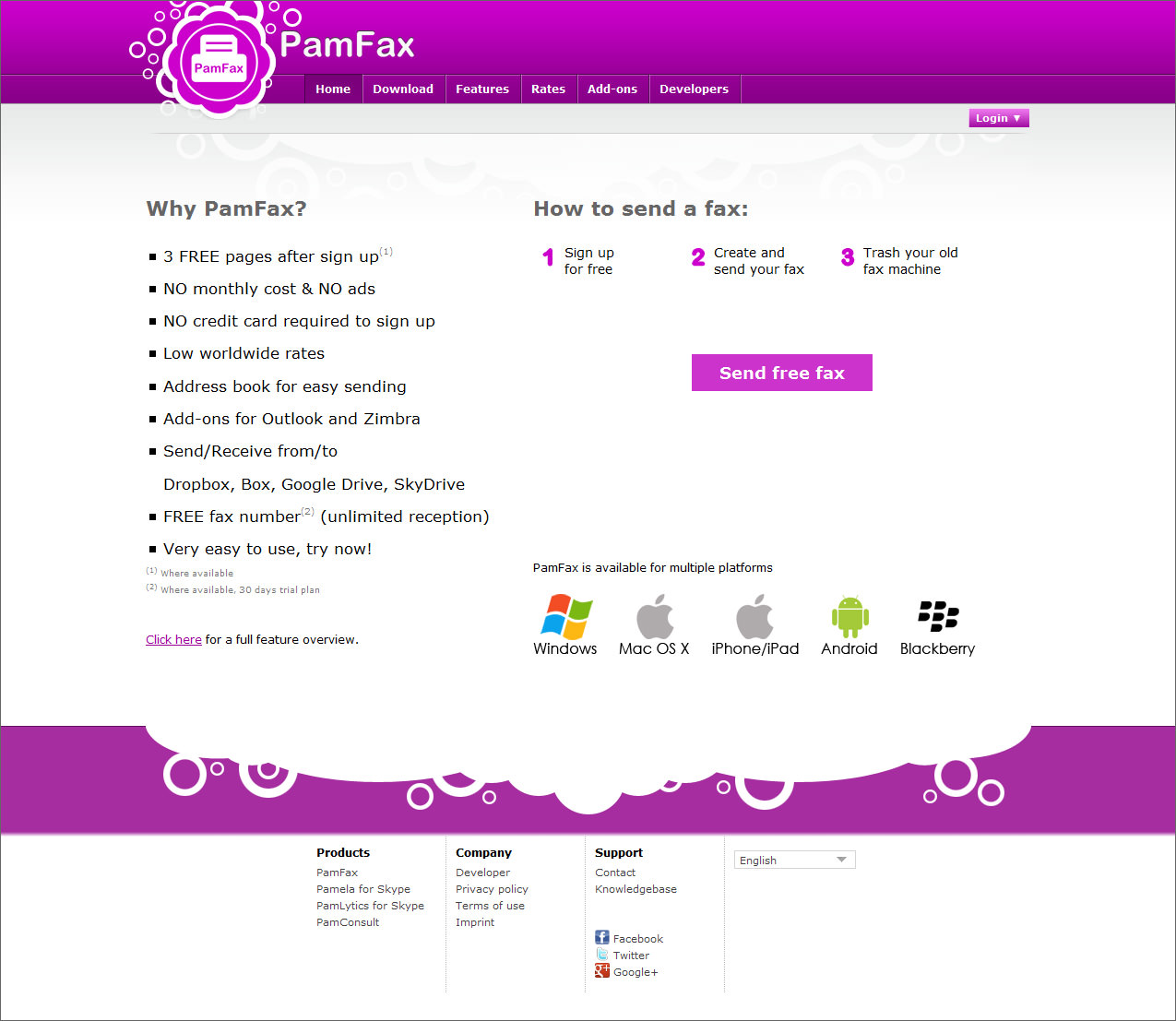 pam fax free internet fax 5 Best Online Electronic Fax To Securely Send & Receive Fax Over The Internet