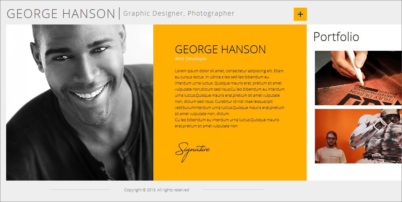Creative Online CV Resume Template for Web, Graphic Designer ...