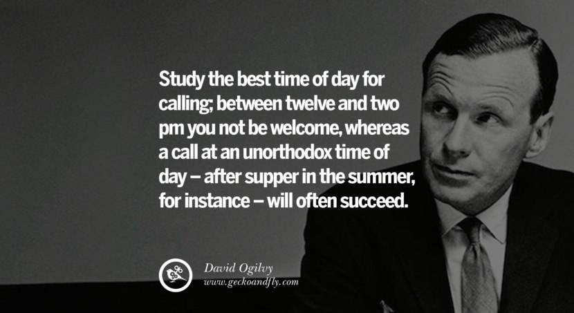 The more prospects you talk to, the more sales you expose yourself to, the more orders you will get. But never mistake a quantity of calls for quality of salesmanship. Quote by David Ogilvy