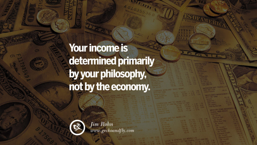 Inspirational Motivational Poster Amway or Herbalife Your income is determined primarily by your PHILOSOPHY, not by the ECONOMY. - Jim Rohn best inspirational quotes tumblr quotes instagram