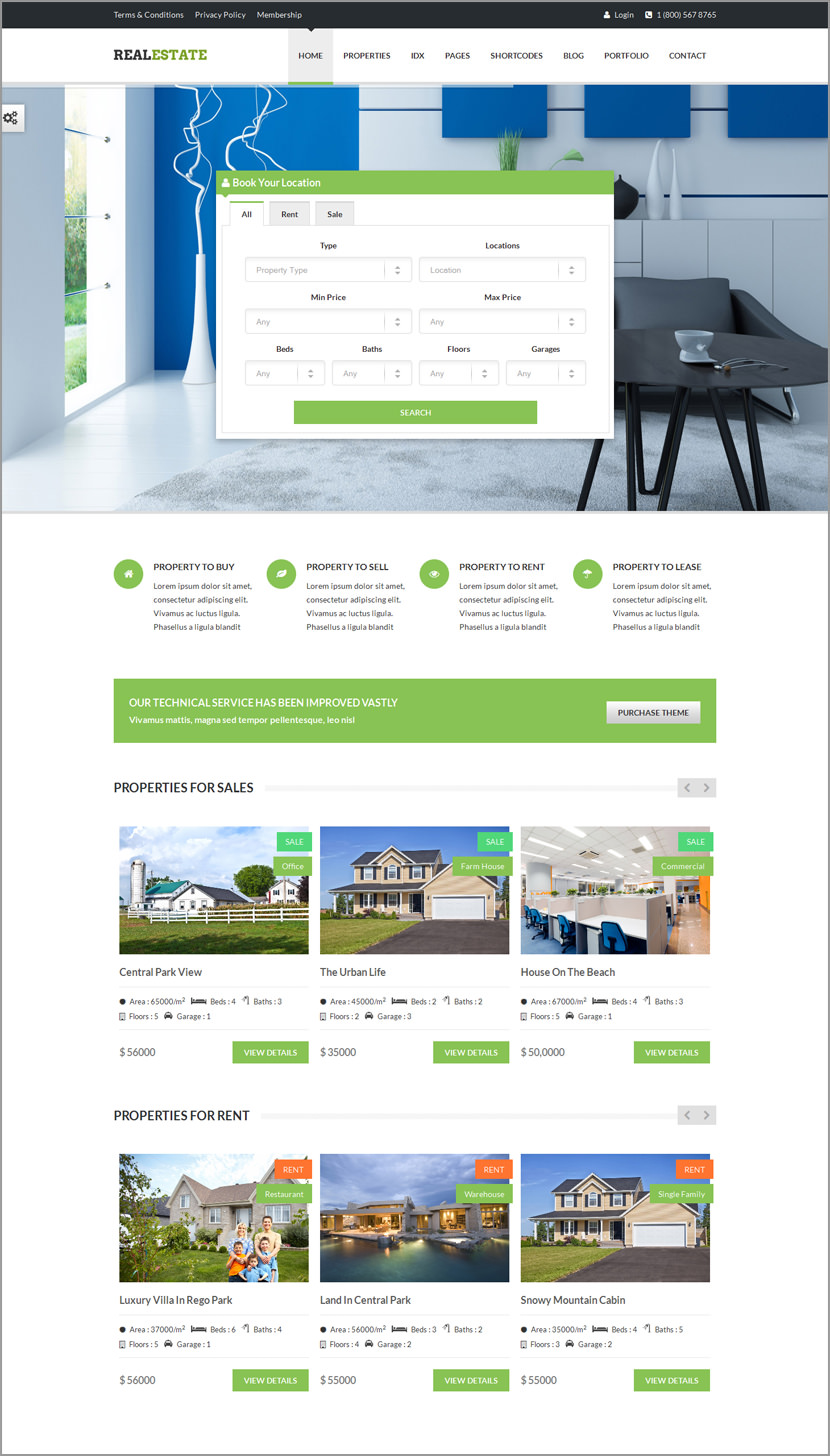 real estate responsive wordpress