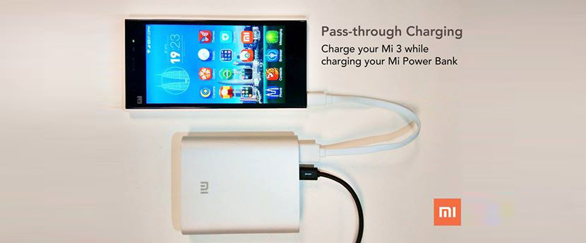 mi powerbank pass through charging