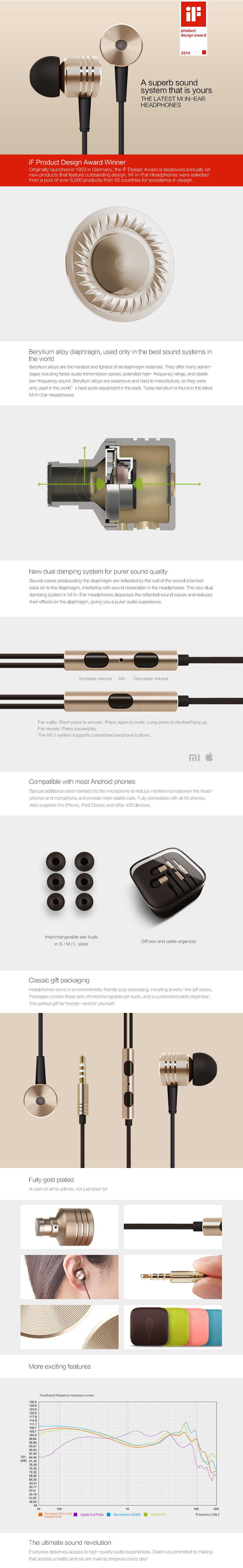xiaomi ear phone in ear headphone