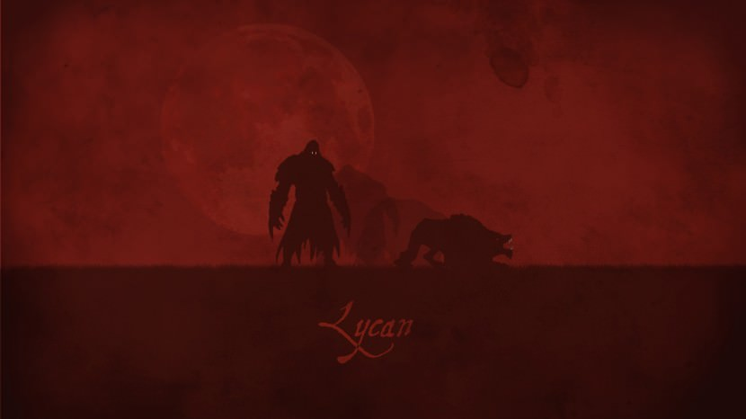 Lycan download dota 2 heroes minimalist silhouette HD wallpaper