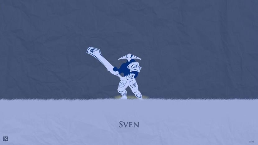Sven download dota 2 heroes minimalist silhouette HD wallpaper