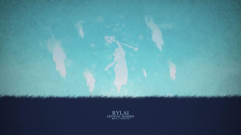 Crystal Maiden Rylai download dota 2 heroes minimalist silhouette HD wallpaper