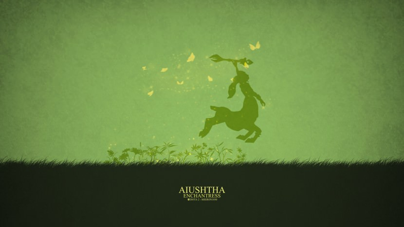 Enchantress Aiushtha download dota 2 heroes minimalist silhouette HD wallpaper