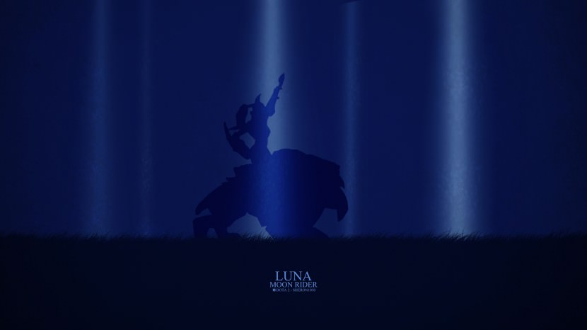 Luna Moon Rider download dota 2 heroes minimalist silhouette HD wallpaper