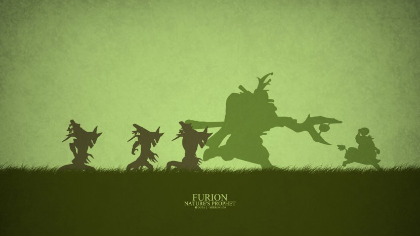 Nature Prophet Furion download dota 2 heroes minimalist silhouette HD wallpaper