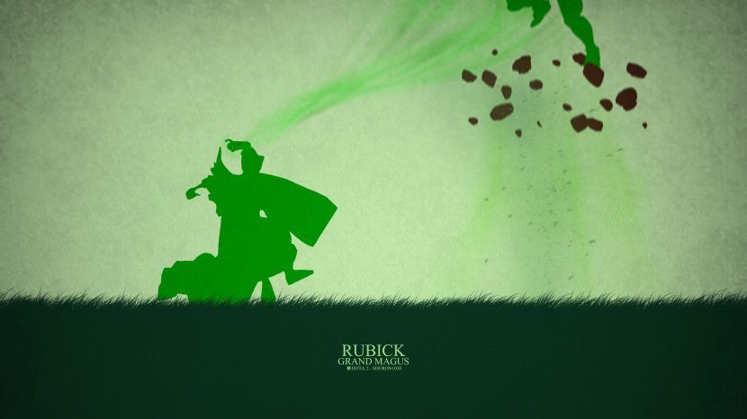 Rubick Grand Magus download dota 2 heroes minimalist silhouette HD wallpaper