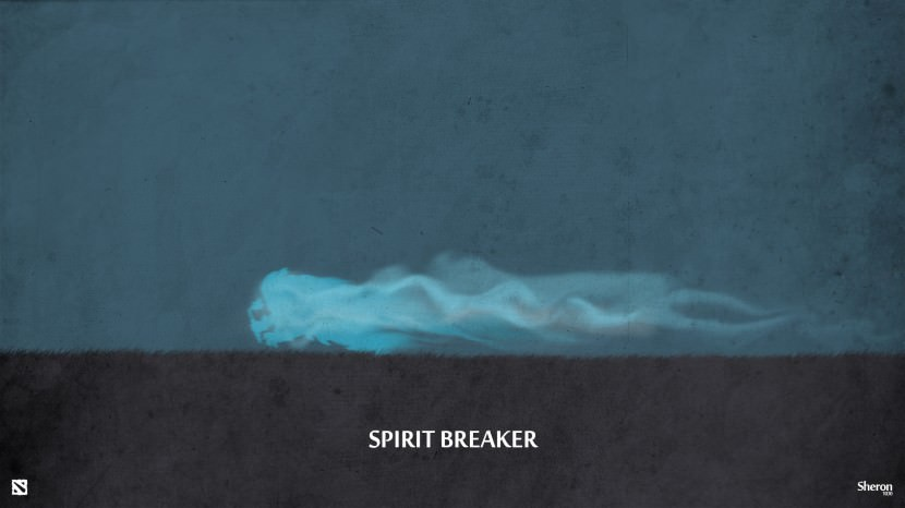 Spirit Breaker download dota 2 heroes minimalist silhouette HD wallpaper