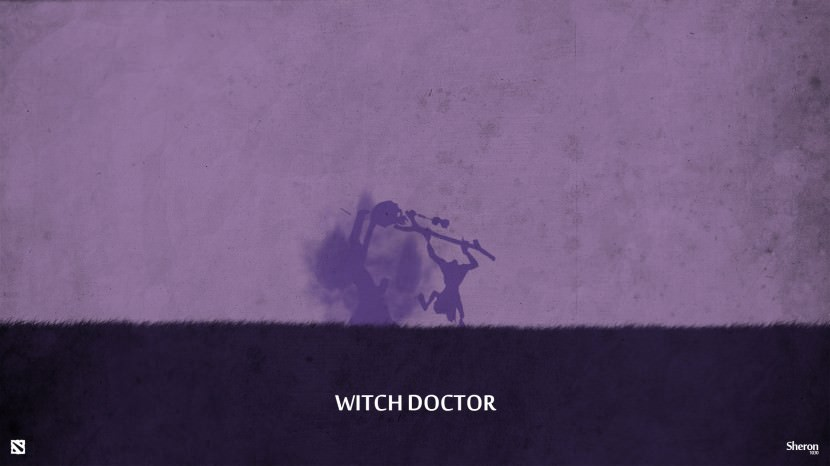 Witch Doctor download dota 2 heroes minimalist silhouette HD wallpaper
