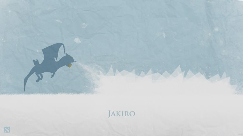 Jakiro download dota 2 heroes minimalist silhouette HD wallpaper