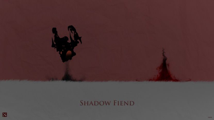 Shadow Fiend download dota 2 heroes minimalist silhouette HD wallpaper